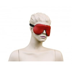 Eyemask Leather - Bordeaux Red