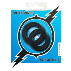 Rock Rings The Hellfire ll 2 Pack Black