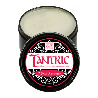 Tantric Candle W Pher. White Lavend