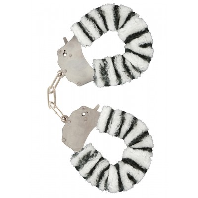 Furry Fun Cuffs Zebra Plush