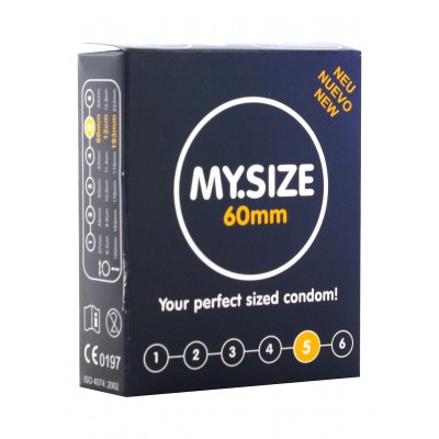 My.Size 60 Condoms 3 Pcs