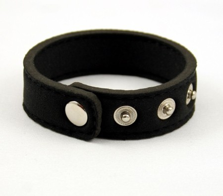 Snap Neoprene Cockring - Black