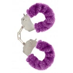Furry Fun Cuffs Purple Plush