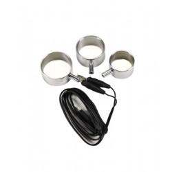 Electro Aluminium Cock ringen, uni-polair, 3 st.