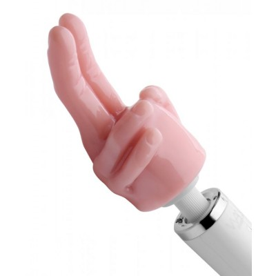 Pleasure Pointer Two Finger Wand Attachment - Opzetstuk