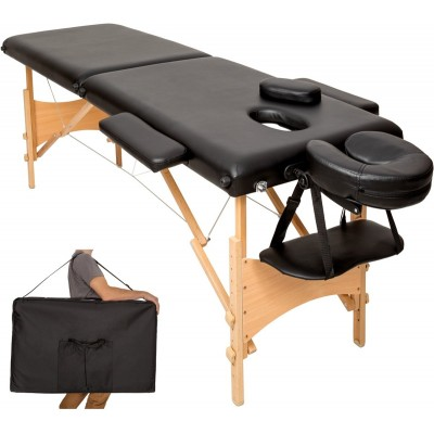 Dreamble - Mobiele Massagetafel - 2 zones - 5cm - Zwart + Draagtas
