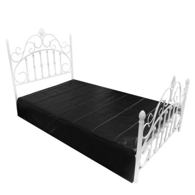 PVC Bed Sheet Cover - Black